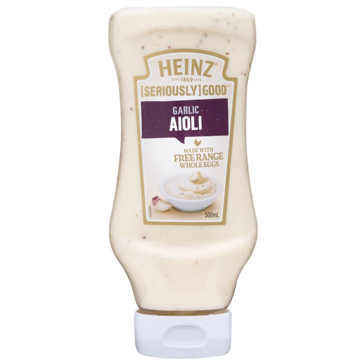 Heinz Aioli Seriously Good Squeezy, 500 Millilitre