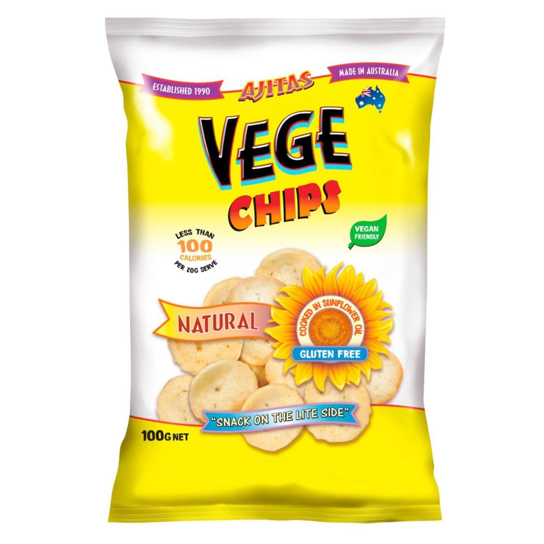Ajitas Vege Chips Natural, 100 Gram