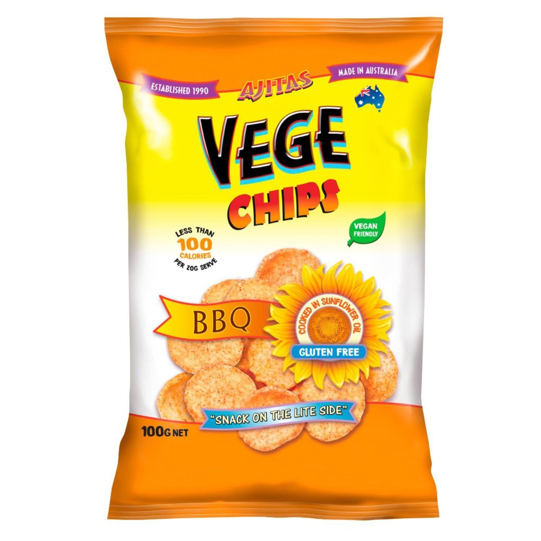 Ajitas Vege Chips Barbeque, 100 Gram