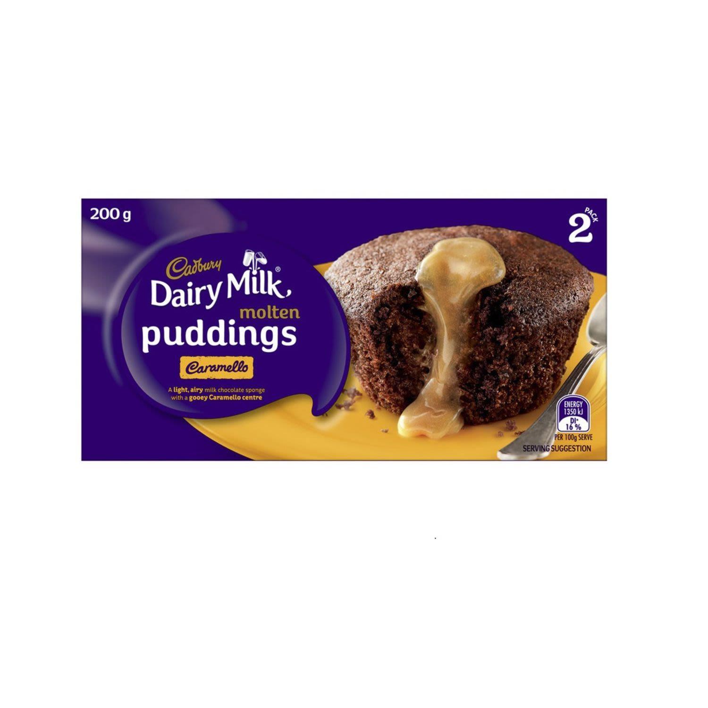Cadbury Dairy Milk Caramello Molten Pudding, 2 Each