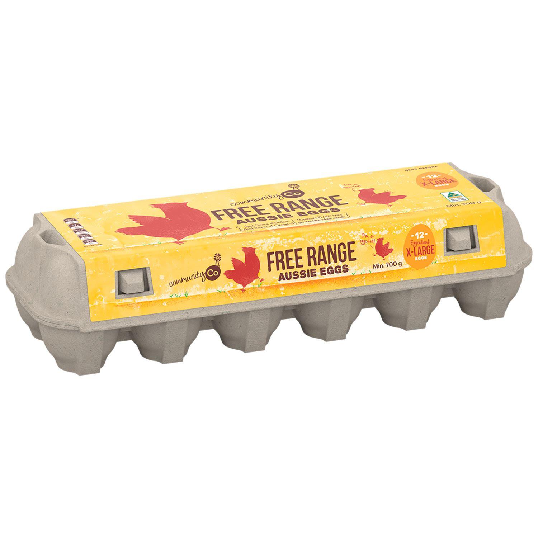 Community Co Free Range X-Large Aussie Eggs, 12 Each