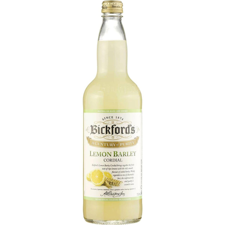 Bickford's Lemon Barley Cordial, 750 Millilitre
