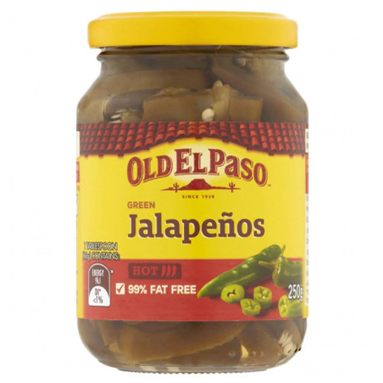 Old El Paso Mexican Green Jalapenos, 250 Gram