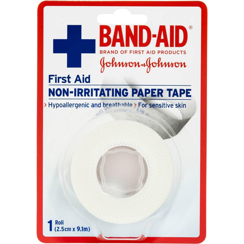 Band-aid First Aid Non-irritating Paper Tape 2.5cm X 9.1m, 1 Each