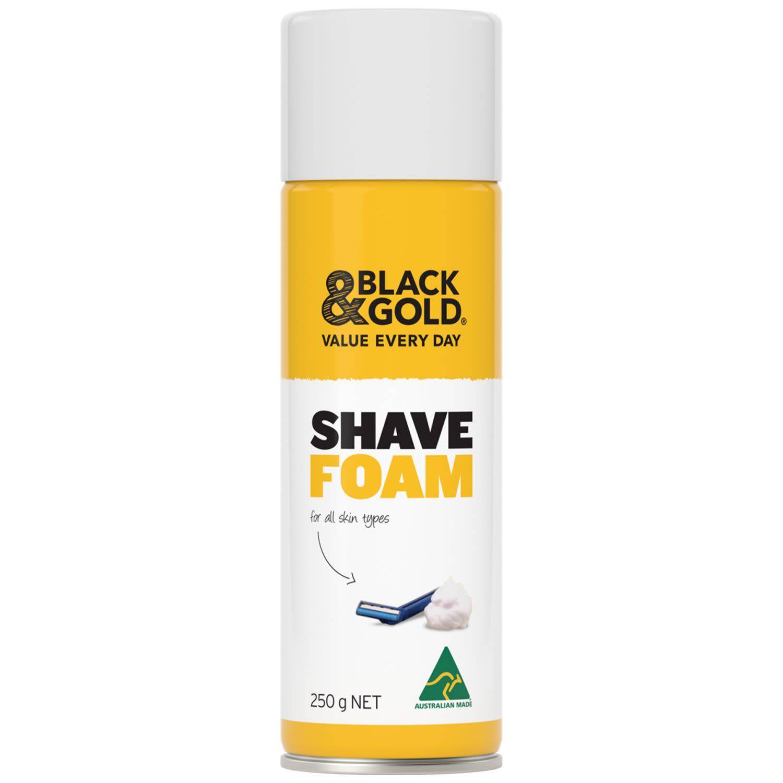 Black & Gold Shaving Foam, 250 Gram