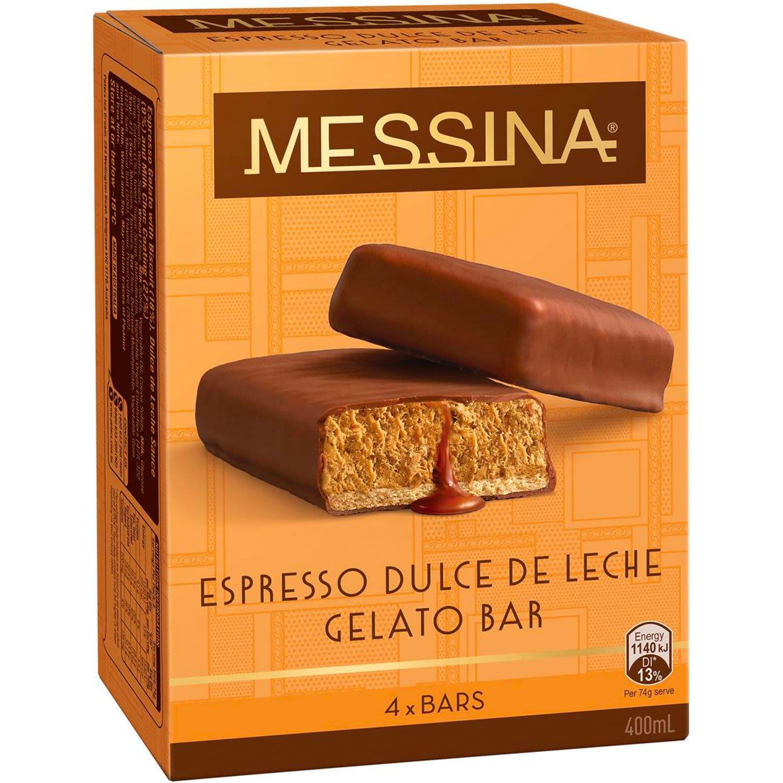 Peters Messina De Leche Gelato Bar , 4 Each