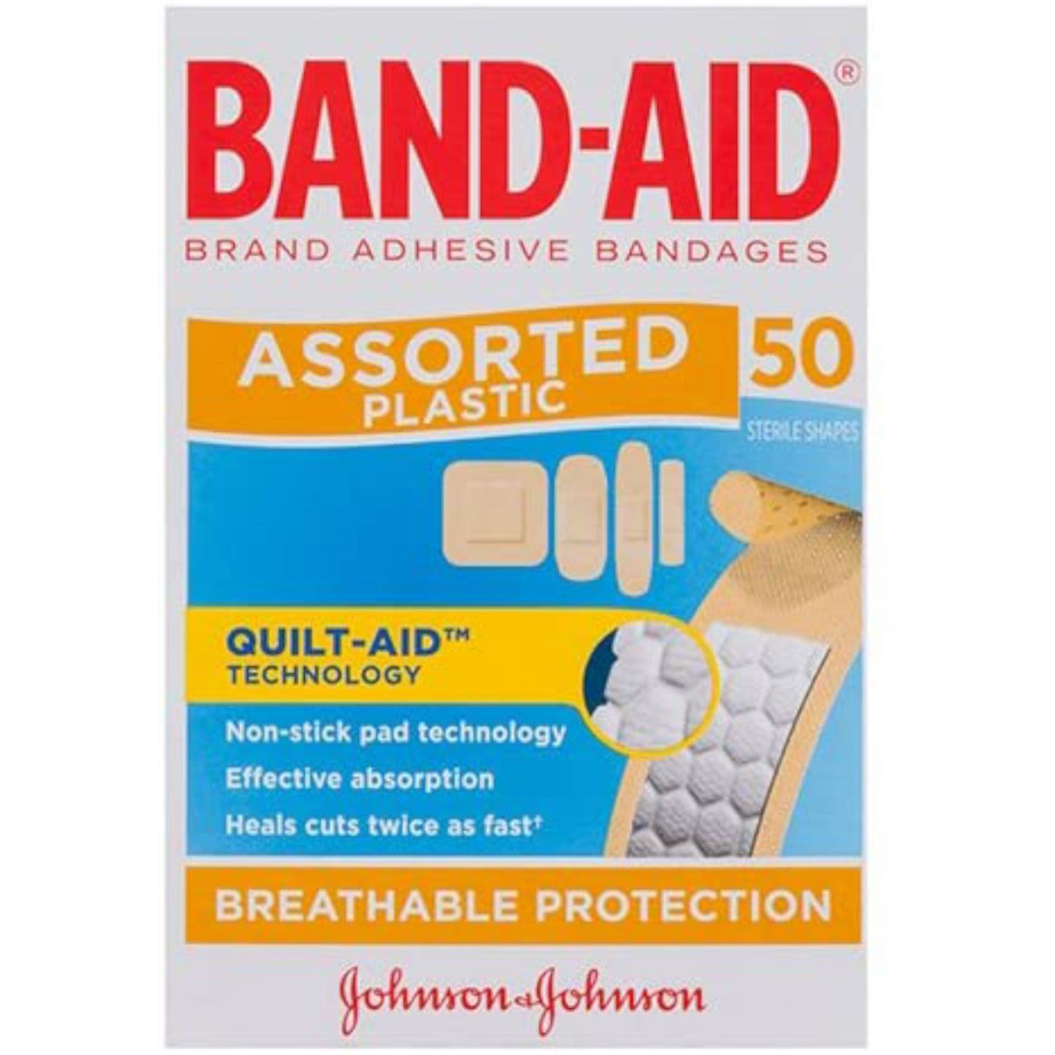 Band Aid Plaster Shapes, 50 Each