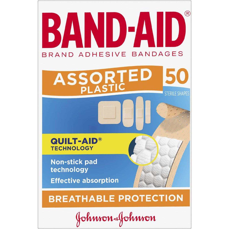 Band-Aid Plastic Strips, 50 Each