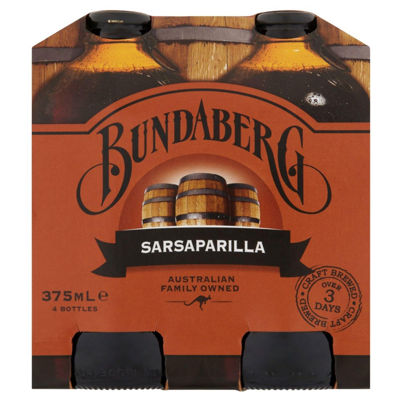 Bundaberg Sarsaparilla, 4 Each
