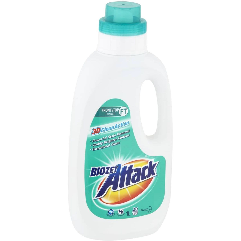 Biozet Attack Laundry Liquid Regular, 1 Litre