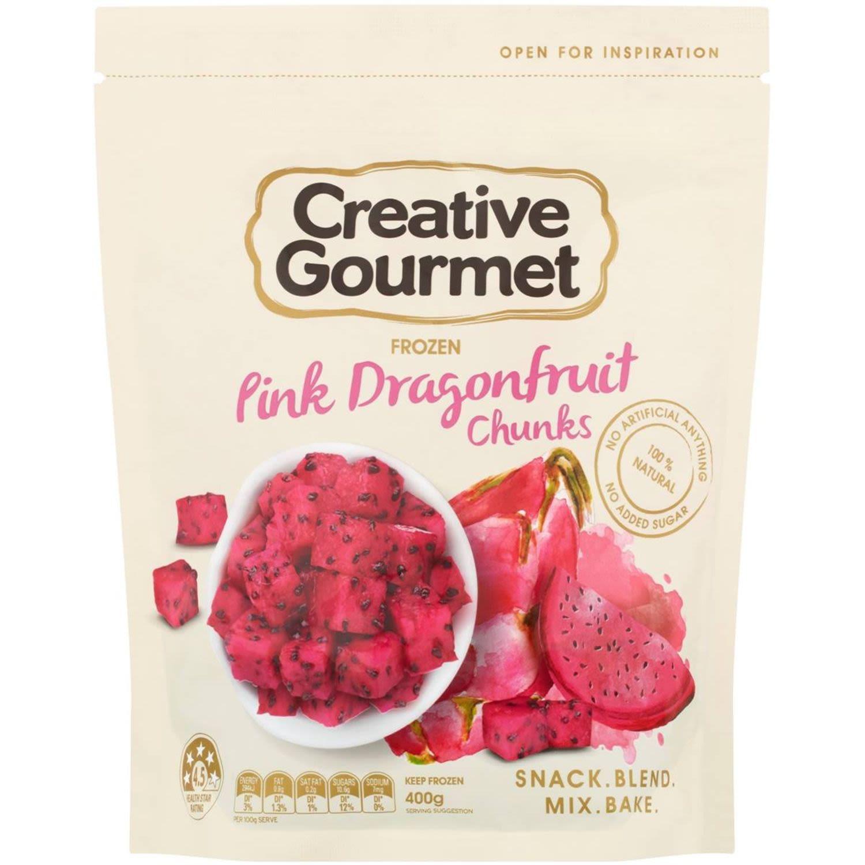 Creative Gourmet Pink Dragonfruit Chunks, 400 Gram