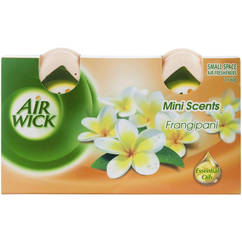 Air Wick Mini Scents Decorative Air Fresheners Frangipani, 2 Each