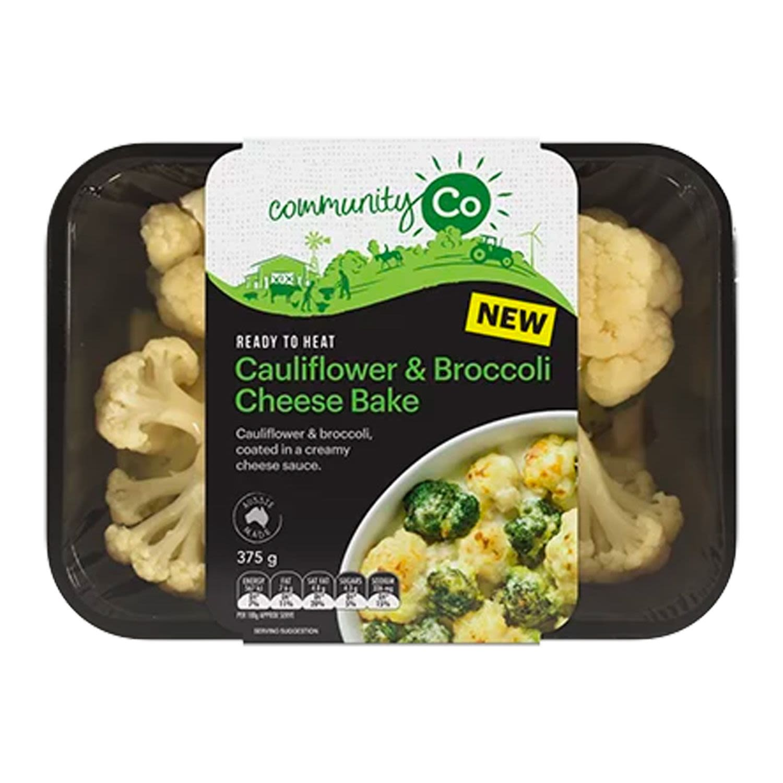 Community Co Bake Cauliflower & Broccoli Cheese Bake, 375 Gram