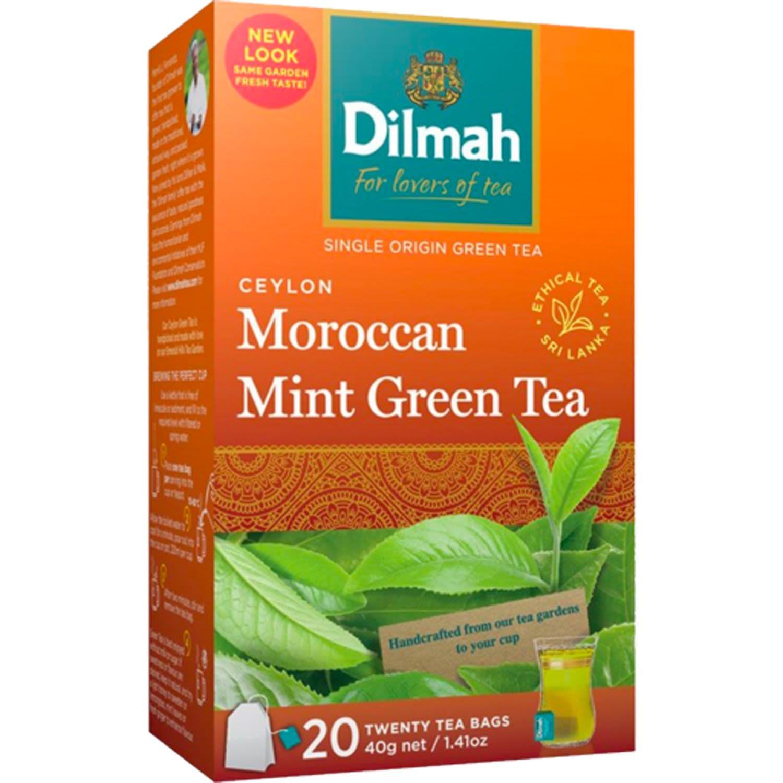 Dilmah Moroccan Mint Green Tea Bag, 20 Each