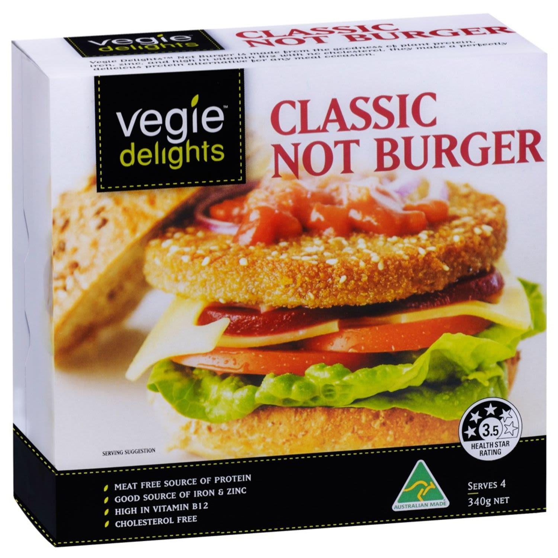 Vegie Delights Not Burger, 340 Gram