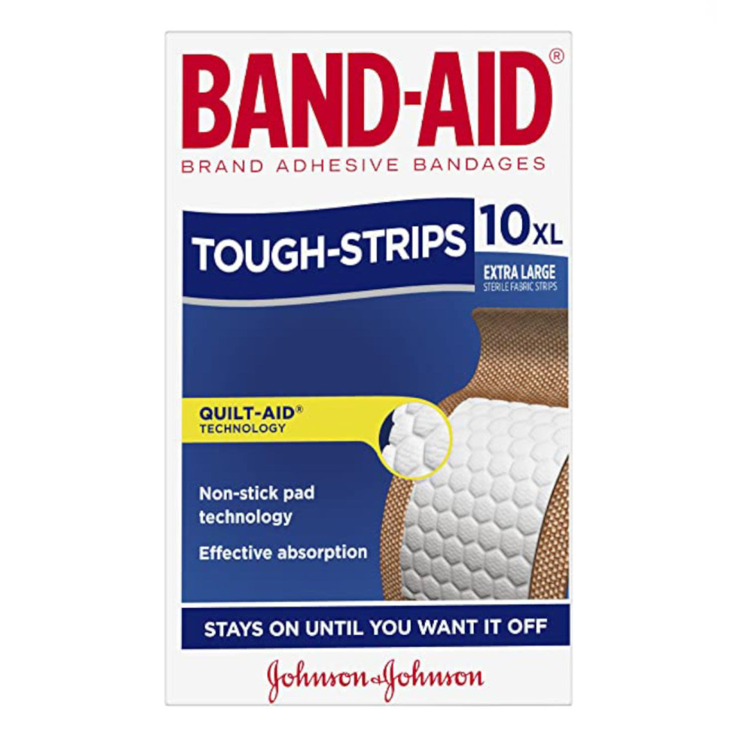 Band Aid Tough Strips Water Proof Extra Large, 10 Each