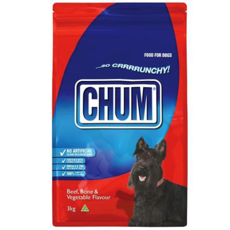 Chum Crunchy Beef Bone & Vegetable, 3 Kilogram