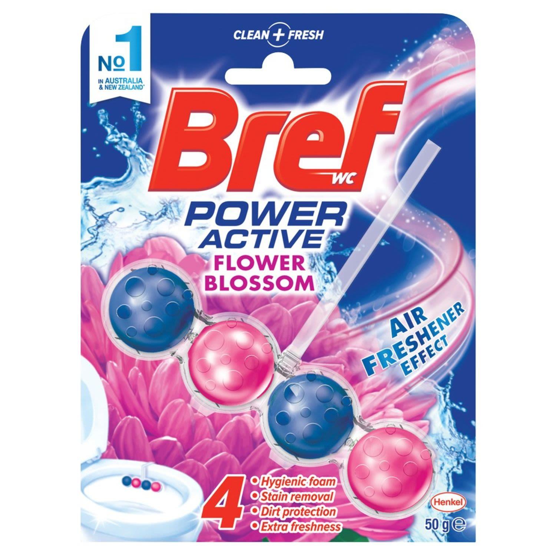 Bref Power Active Toilet Cleaner Fresh Flowers, 50 Gram