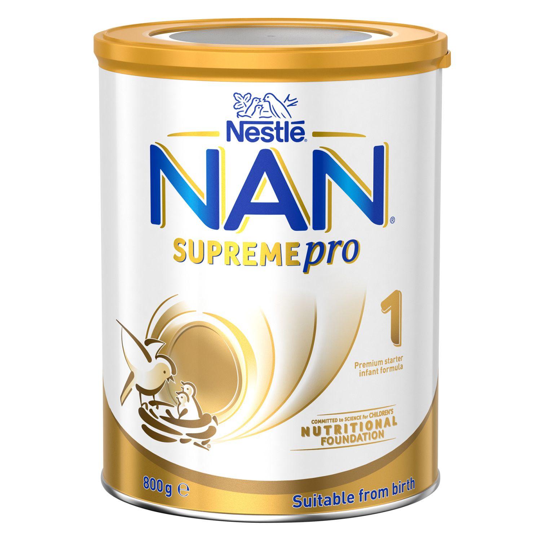Nestlé Nan Supreme 1 Starter 0-6 Months Baby Formula Powder, 800 Gram