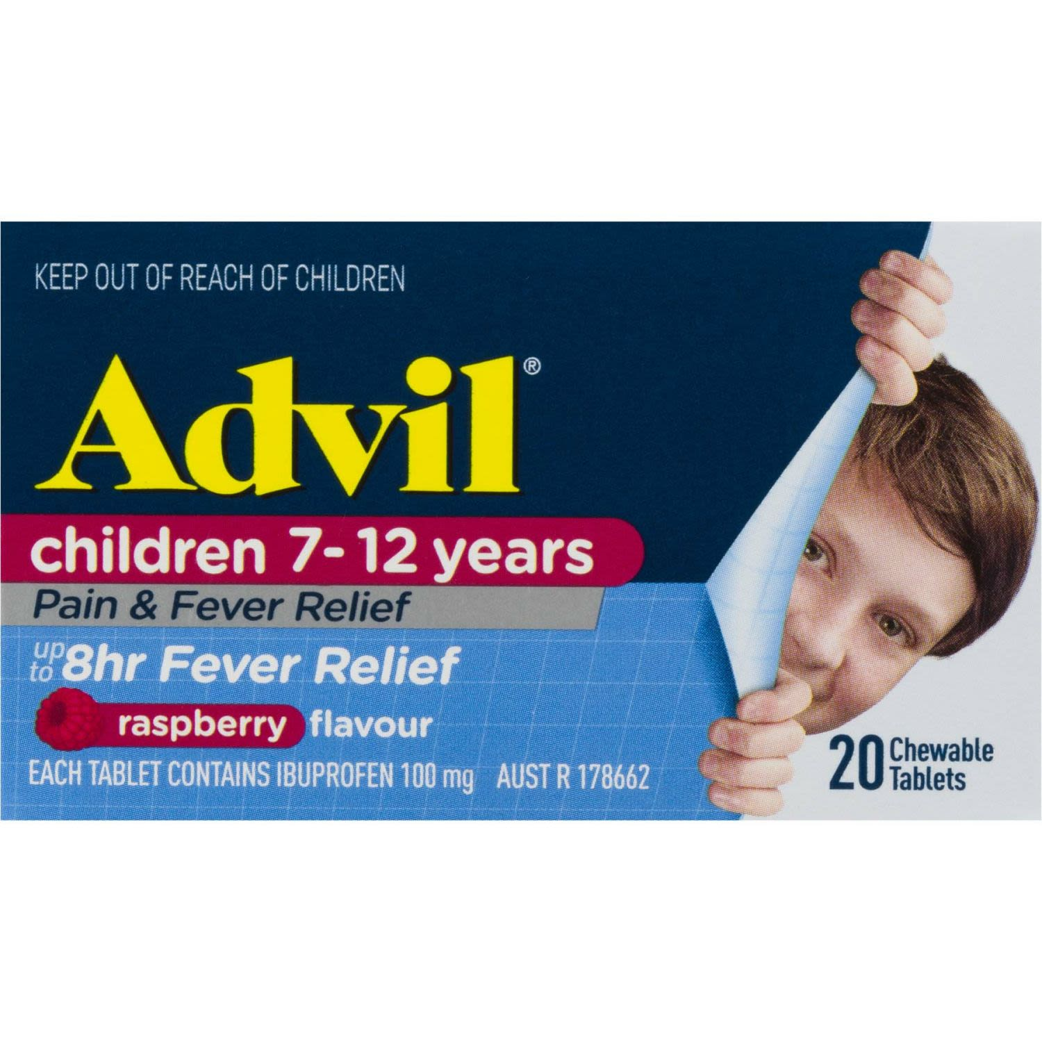 Advil Pain & Fever 7-12 Years Chewable, 20 Each