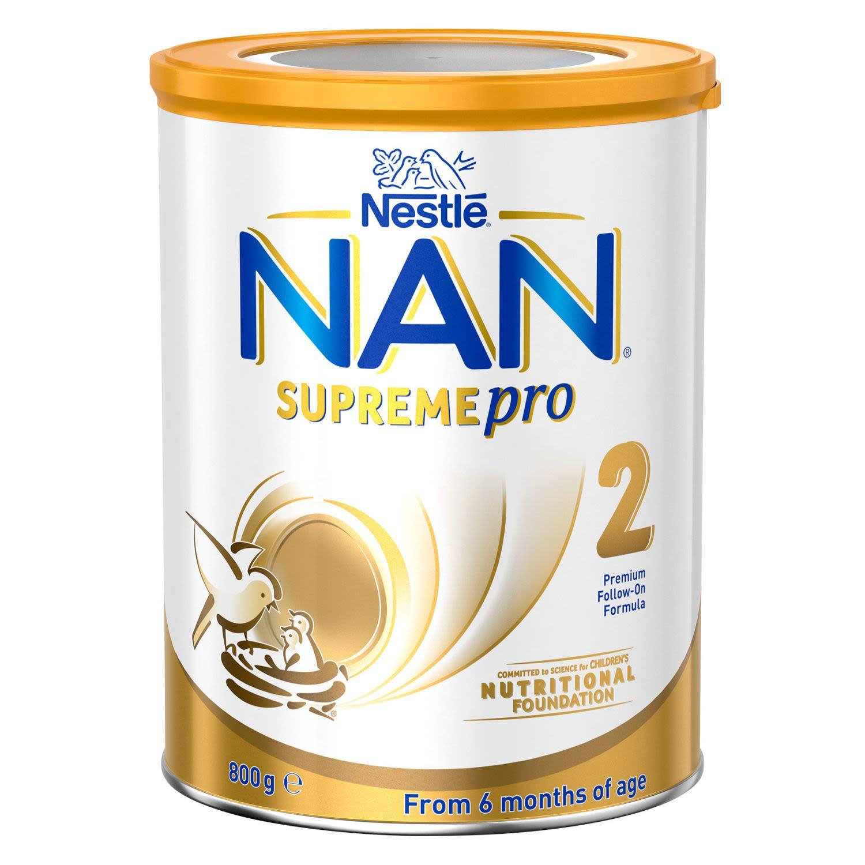 Nestlé Nan Supreme 2 Follow-on 6-12 Months Baby Formula Powder, 800 Gram