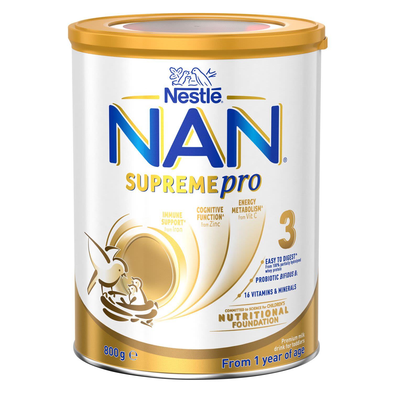 Nestlé Nan Supreme 3 Toddler 12+ Months Milk Formula Powder, 800 Gram