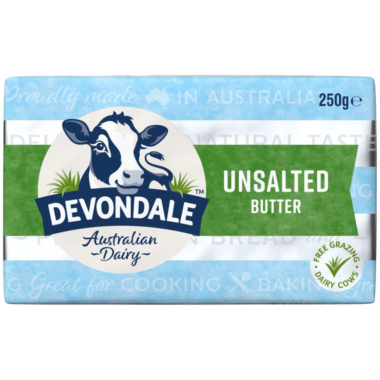 Devondale Unsalted Pat Butter, 250 Gram
