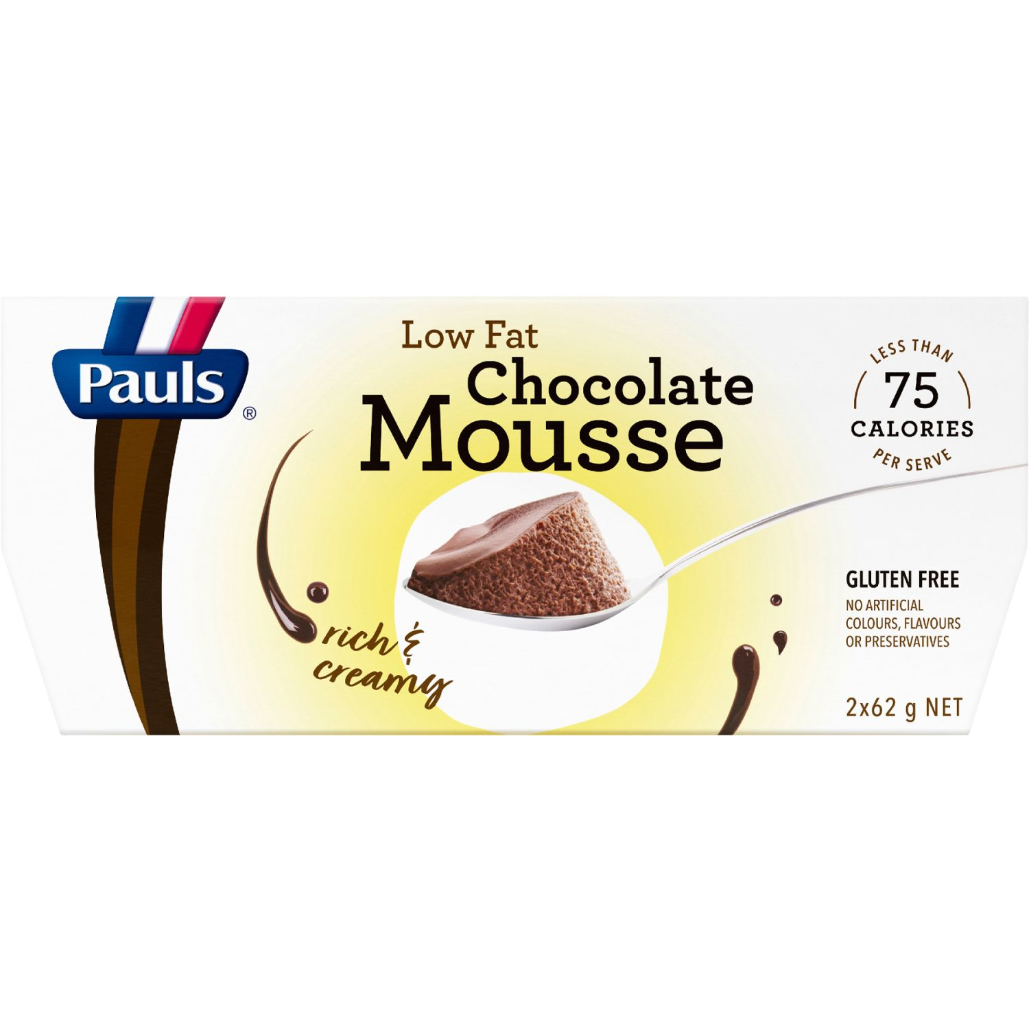 Pauls Low Fat Chocolate Mousse, 2 Each