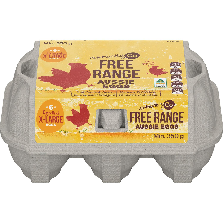 Community Co Eggs Xl Free Range, 6 Each