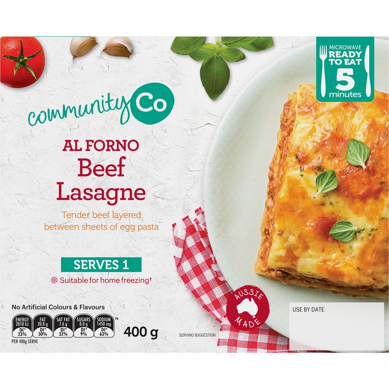 Community Co Beef Lasagne, 400 Gram