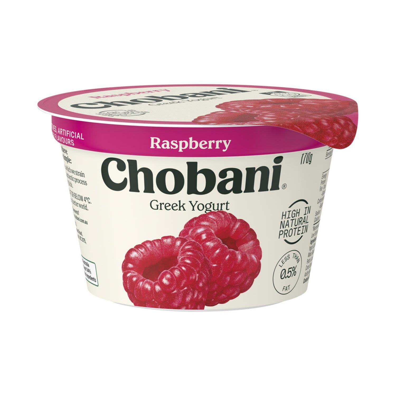 Chobani Raspberry Yoghurt, 170 Gram