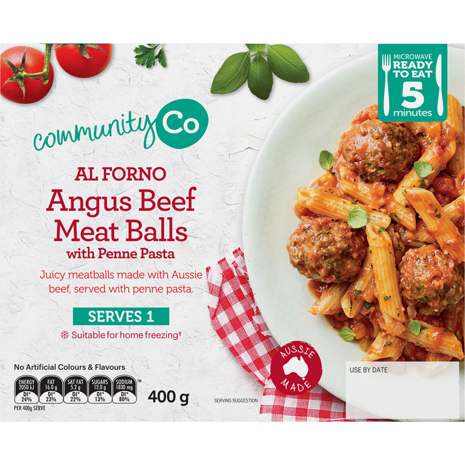 Community Co Angus Beef Meat Balls & Penne, 400 Gram
