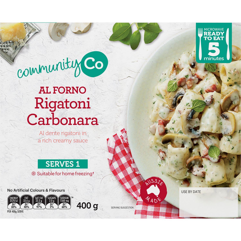 Community Co Carbonara Rigatoni, 400 Gram