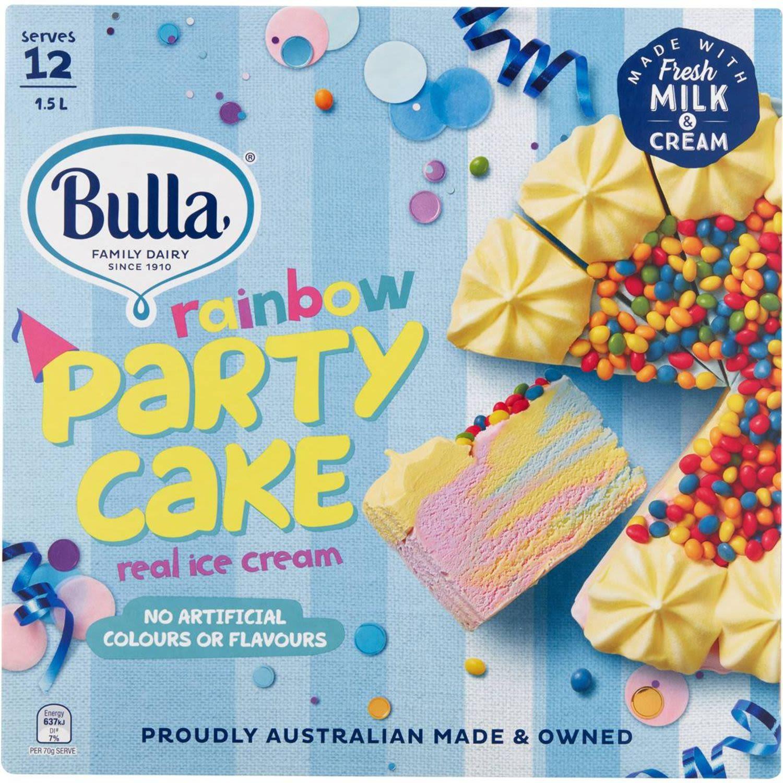 Bulla Rainbow Ice Cream Cake, 1.5 Litre