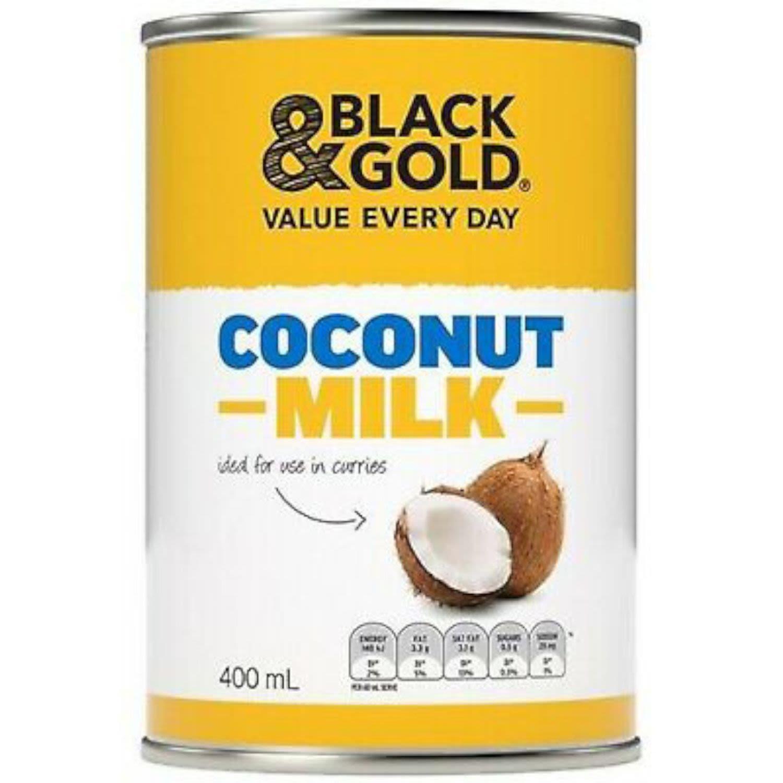 Black & Gold Coconut Milk, 400 Millilitre