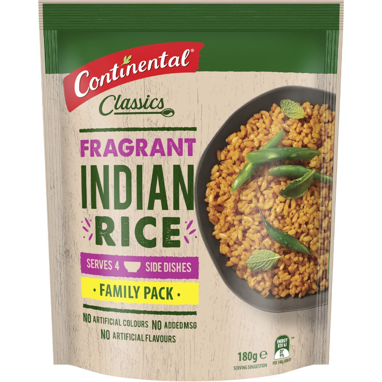 Continental Indian Rice, 180 Gram