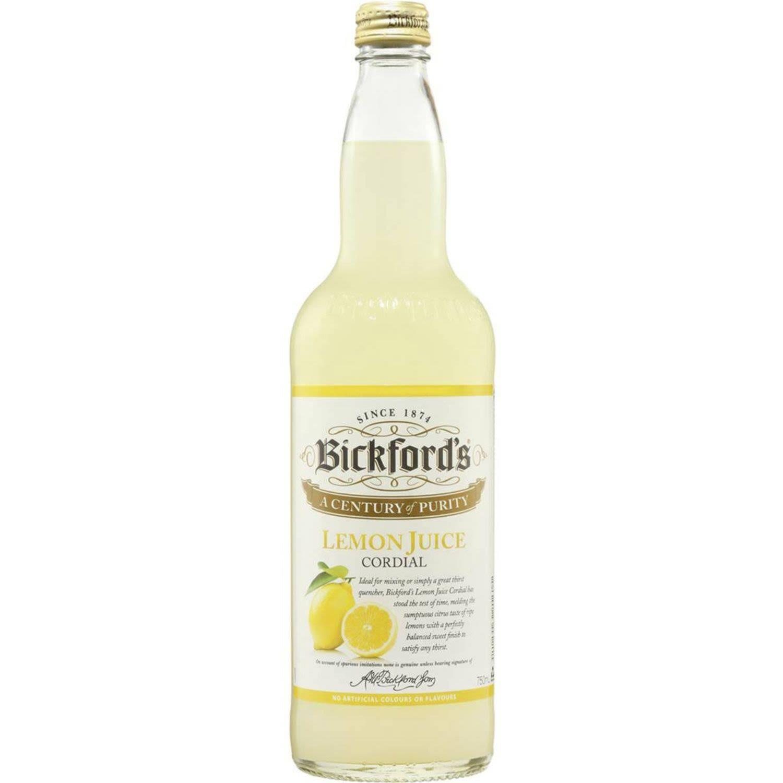 Bickford's Lemon Cordial, 750 Millilitre