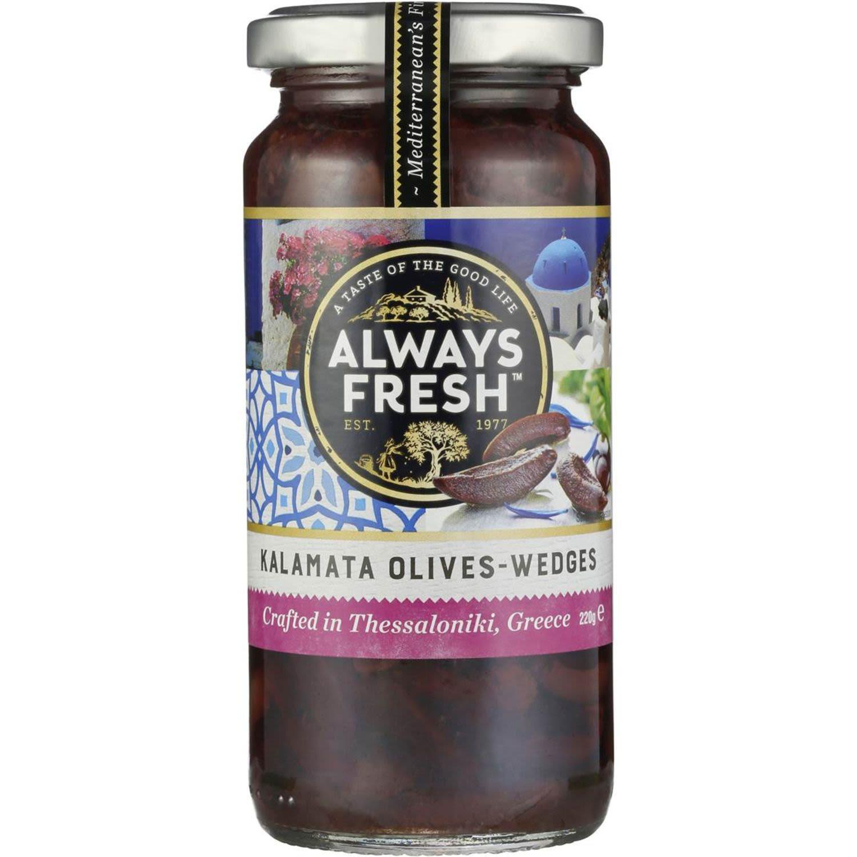 Always Fresh Kalamata Olives Wedges, 220 Gram