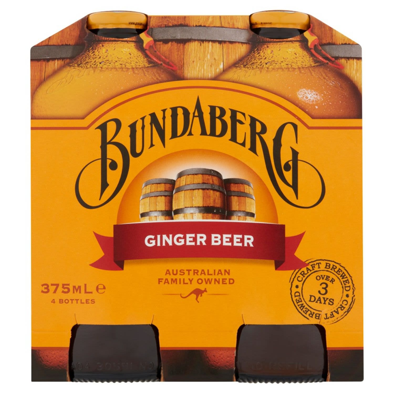 Bundaberg Ginger Beer, 4 Each