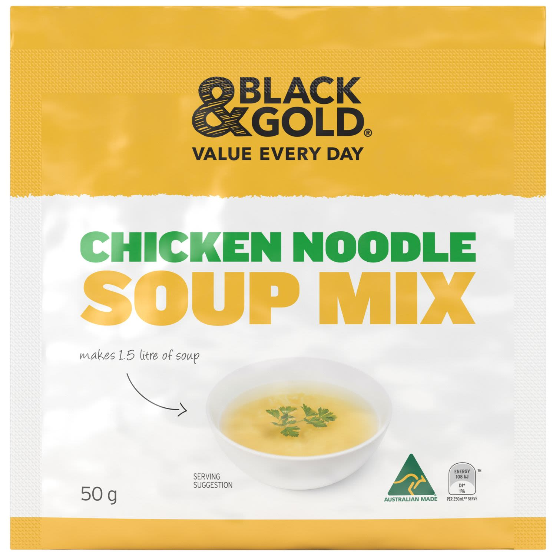 Black & Gold Chicken Noodle Soup, 50 Gram