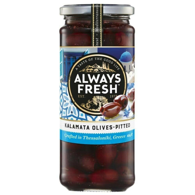 Always Fresh Kalamata Olives Pitted, 425 Gram