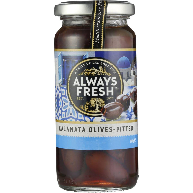 Always Fresh Kalamata Olives Pitted, 220 Gram