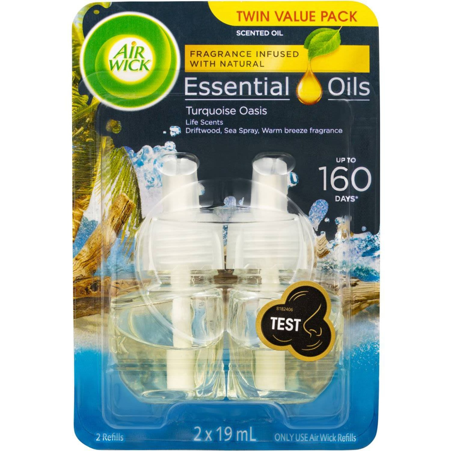 Air Wick Essential Oil Turquoise Oasis Electric Twin Refill, 19 Millilitre