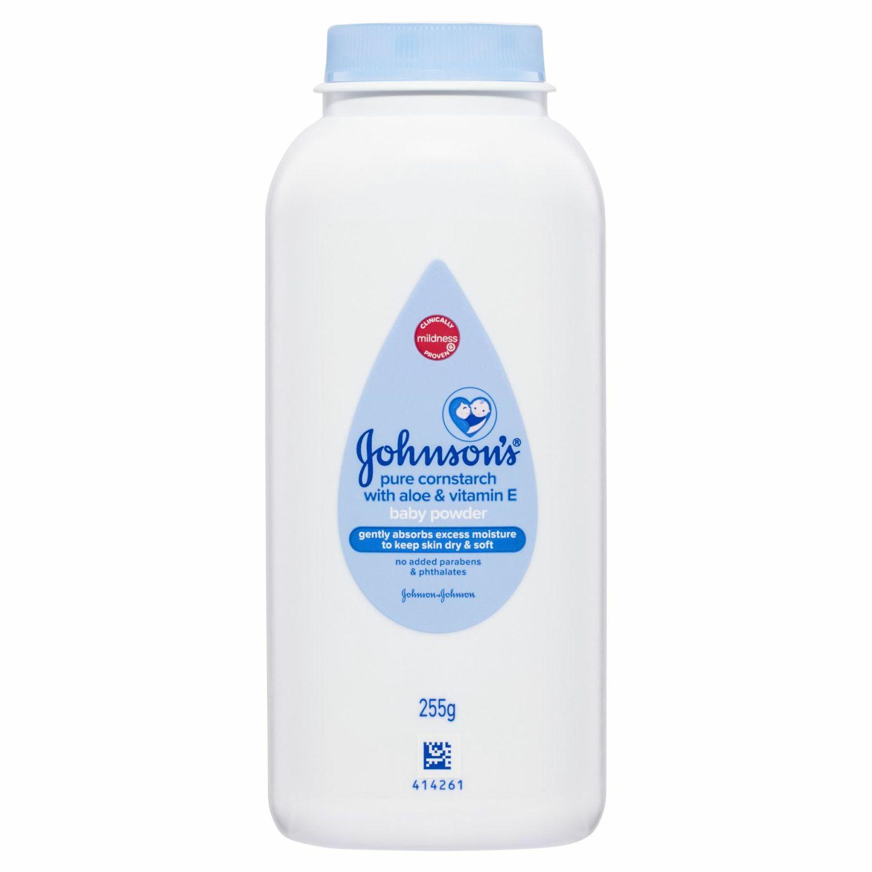 Johnson's Baby Powder Pure Cornstarch With Aloe & Vitamin E, 255 Gram