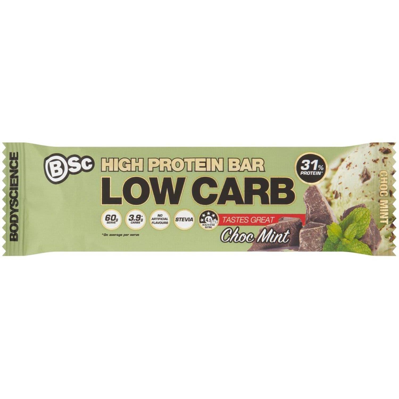 Body Science High Protein Bar Choc Mint, 60 Gram
