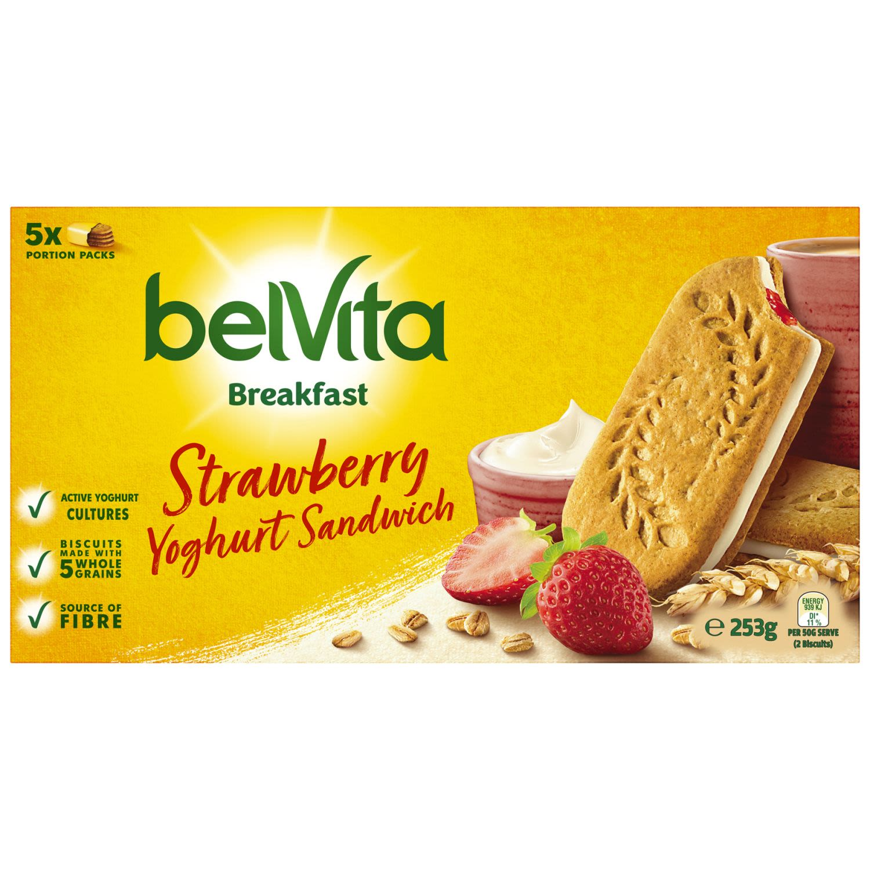 BelVita Strawberry Yoghurt Breakfast Biscuits, 5 Each