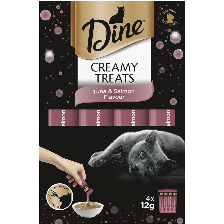 Dine Creamy Treats Tuna & Salmon Flavour Cat Treat, 4 Each