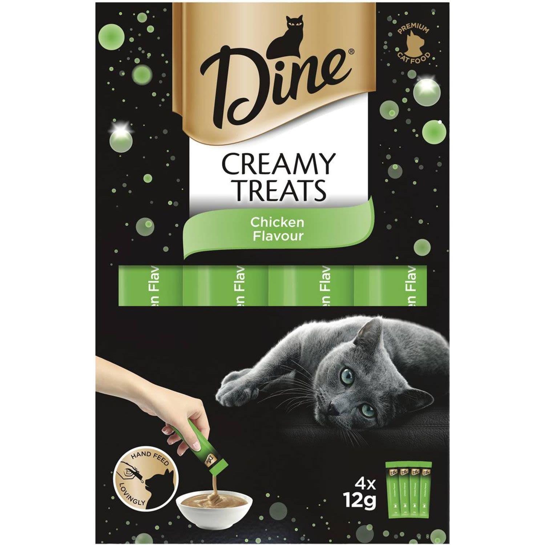Dine Creamy Treats Chicken Flavour Cat Treat, 4 Each