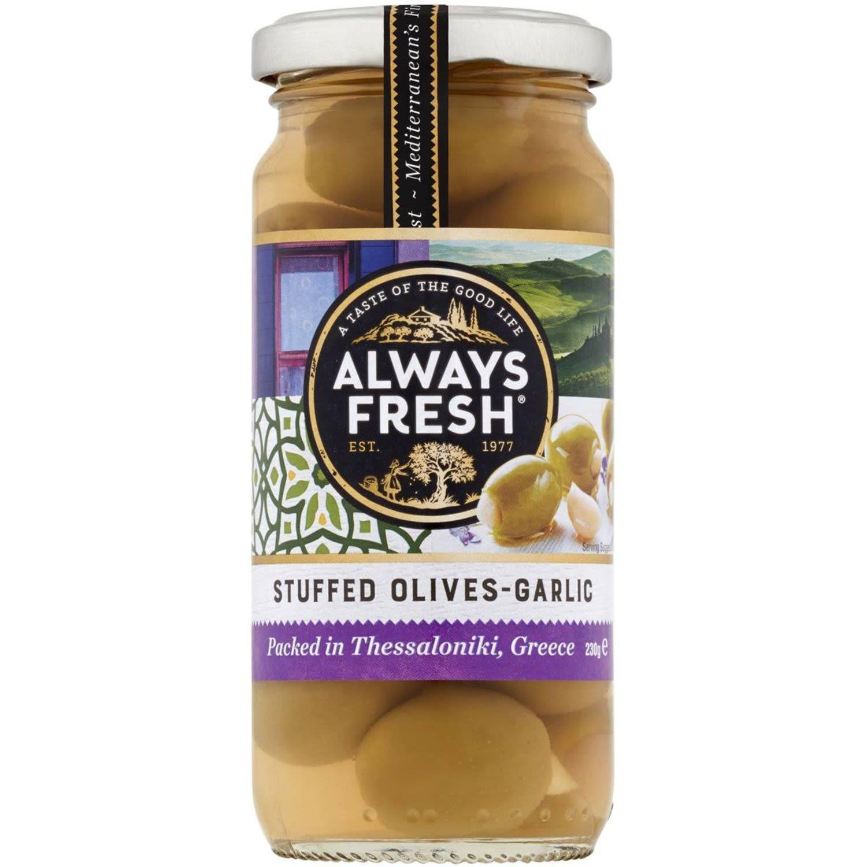Always Fresh Garlic Olives , 230 Gram