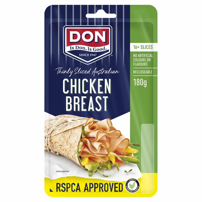 Don Chicken RSPCA Breast Slices, 180 Gram